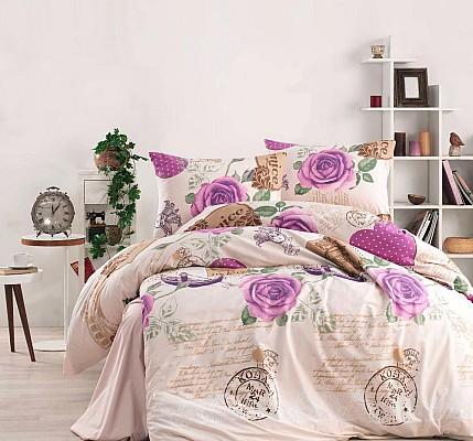 Грациозно спално бельо ранфорс Венеция