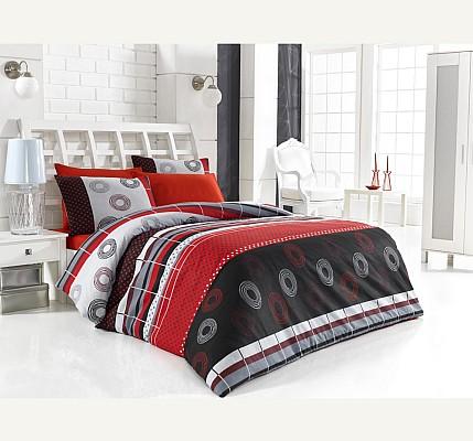 Красиво ранфорс спално бельо Аменте червен