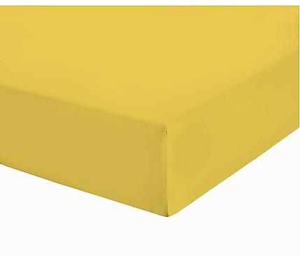 Жълт чаршаф с ластик трико