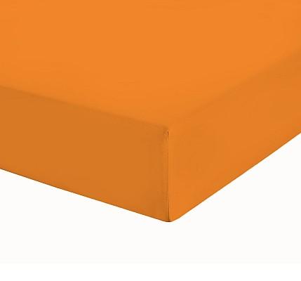 Оранжев чаршаф с ластик трико