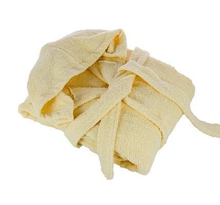 Халат в цвят Екрю памук