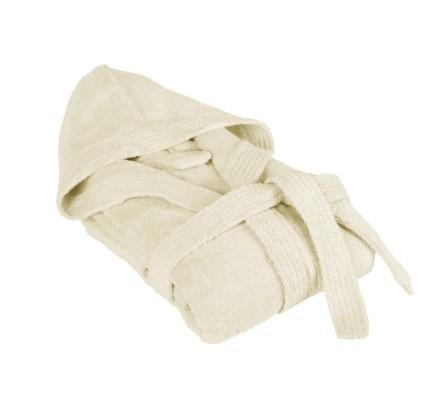 Халат за баня в екрю с бамбукови нишки