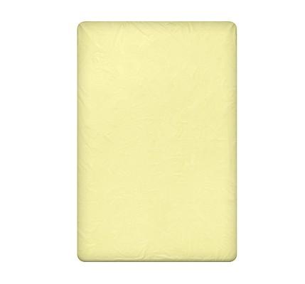 Светло жълт Долен чаршаф - ranforce cotton