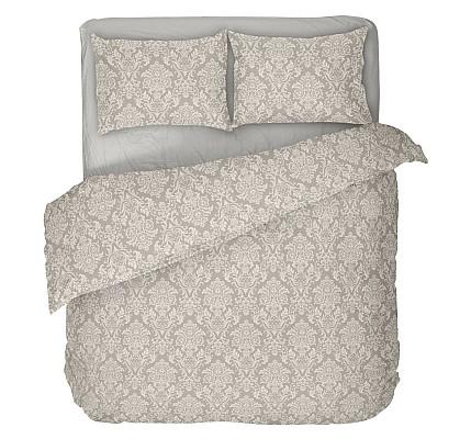 Спално бельо в бежово с фигурални мотиви рококо 2 - ранфорс