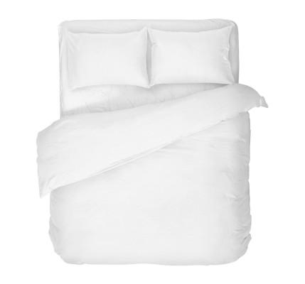 Бяло спално бельо Ранфорс базов модел