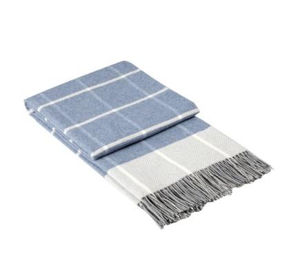 Одеяло Онтарио светло синьо памук, полиестер, акрил-140/200 см