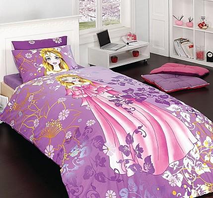 Детски спален комплект Принцеса от памук Ранфорс