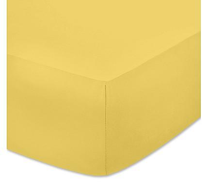 Жълт чаршаф с ластик - здраво трико