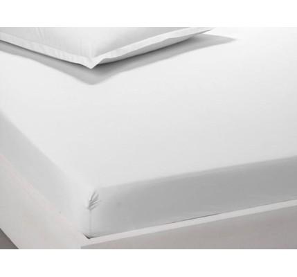 Чаршаф с ластик ранфорс памук – бяло