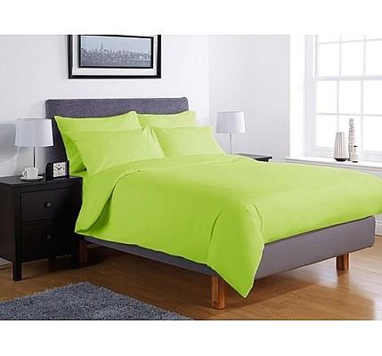 Едноцветно спално бельо ранфорс – зелено