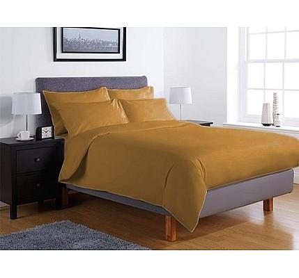 Едноцветно спално бельо ранфорс – цвят тютюн