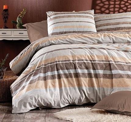 Българско спално бельо PALOMA - BROWN Ранфорс памук