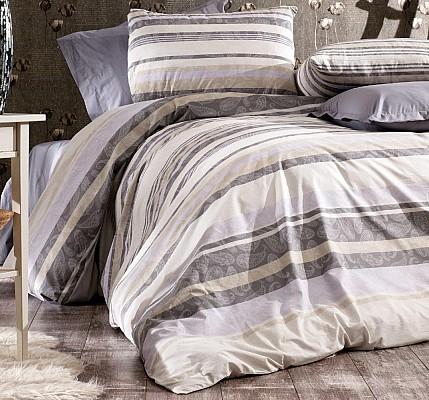 Българско спално бельо PALOMA - GRAY Ранфорс памучен плат