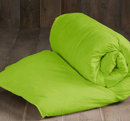 Зелена капитонирана завивка от ранфорс памук