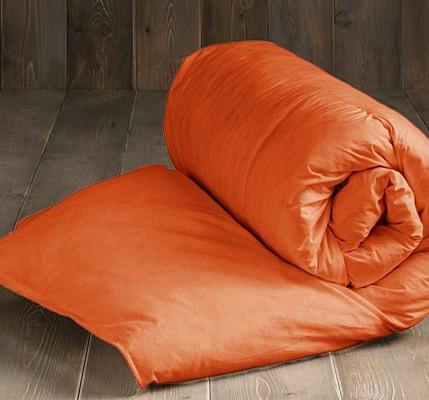Капитонирана завивка от памук ранфорс в оранжево