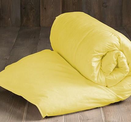 Жълта капитонирана завивка от памук ранфорс