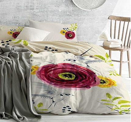 Луксозно Спално бельо Ранфорс Азиатско цвете