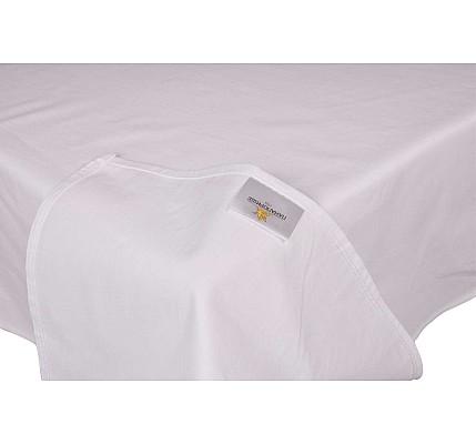 Долен чаршаф ранфорс без ластик в бял цвят
