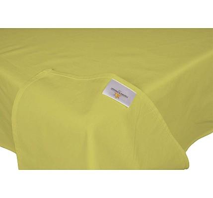 Долен чаршаф ранфорс без ластик зелен цвят