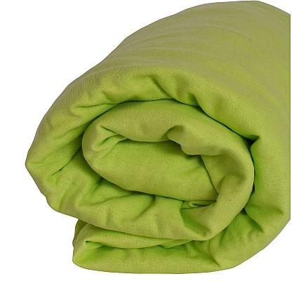 Долен чаршаф трико с ластик зелен