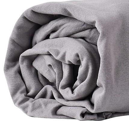 Долен чаршаф трико с ластик сив