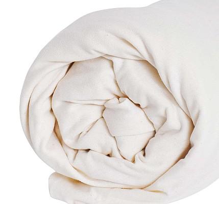 Качествен Долен чаршаф трико с ластик екрю