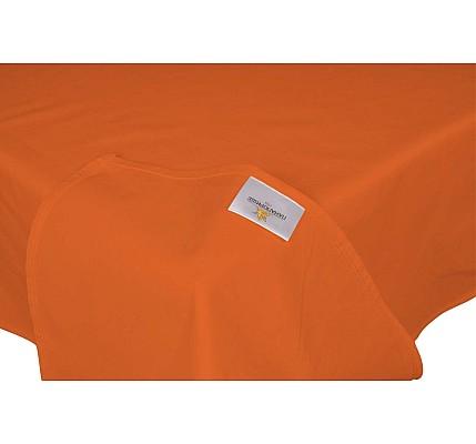 Оранжев долен чаршаф ранфорс без ластик