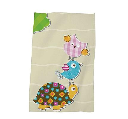 Детска хавлиена кърпа Жълта костенурка - памук и полиестер