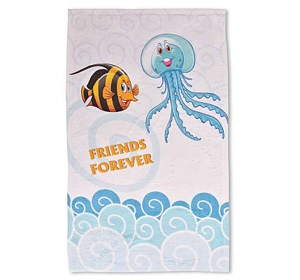 Детска хавлиена кърпа Морско приключение памук и полиестер