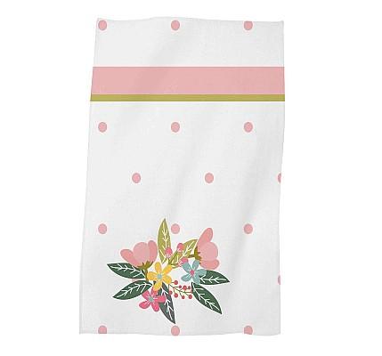 Детска хавлиена кърпа Розов бухал памук и полиестер