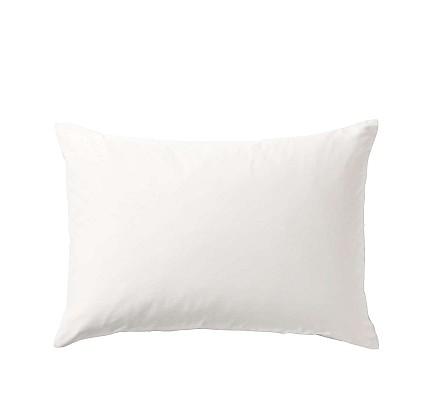 Бяла Калъфка за възглавница от ранфорс памук