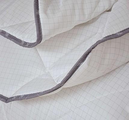 Олекотена завивка с карбонова нишка бяла двойна вата