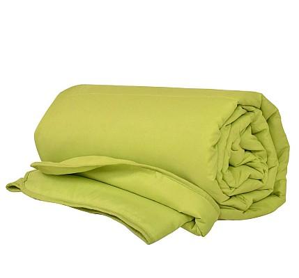 Олекотена завивка микрофибър и вата Зелена