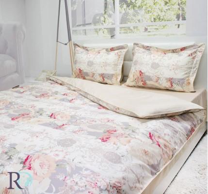 Луксозно Спално бельо Магнолии от памучен сатен