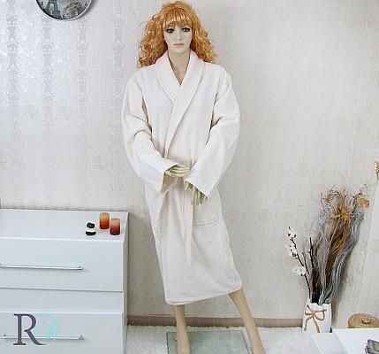 Евтин Халат за Баня Емона Екрю - 100% памук