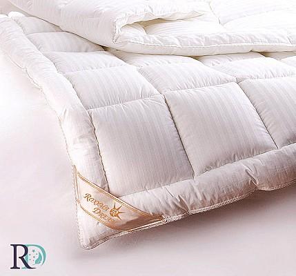Бяла Олекотена Завивка Сатенирано Райе - първокласен памук