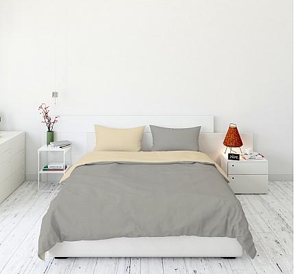 Спално бельо в сиво и екрю Buttery Rose