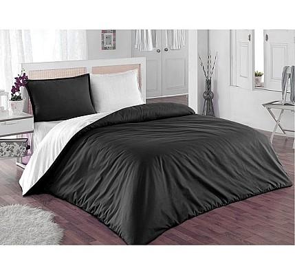 Стилно спално бельо Памук Black and Gray