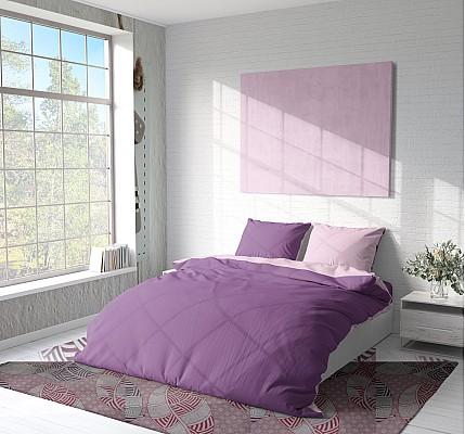 Двулицево лилаво спално бельо от Памук Purple Ink